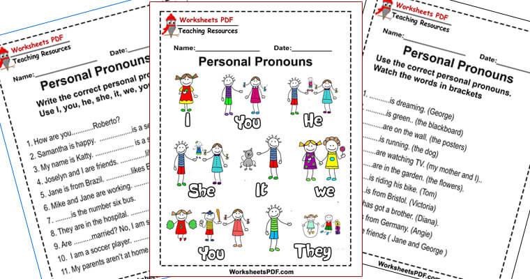 Personal Pronouns - Exercises - Worksheets PDF