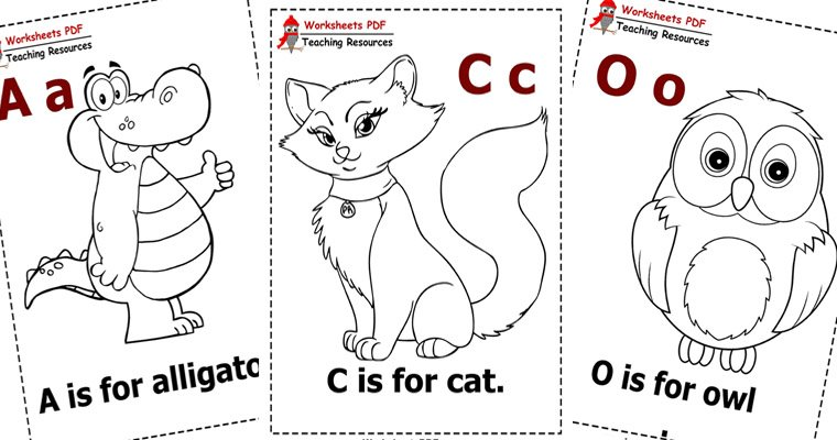 - Animal Alphabet Coloring - Worksheets PDF