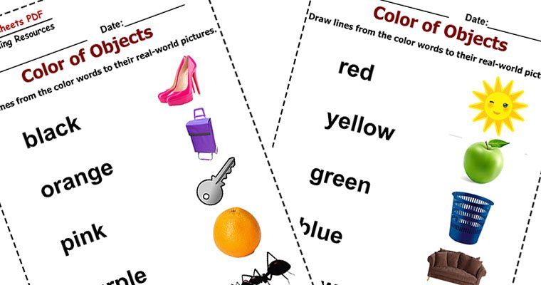 Color of Objects - Free Printable Exercises - Worksheets PDF