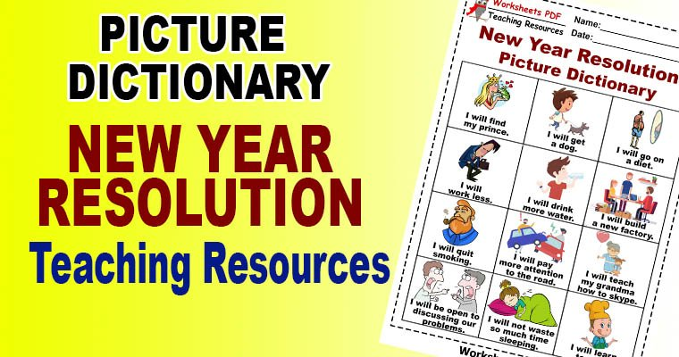 New Years Resolutions Worksheet