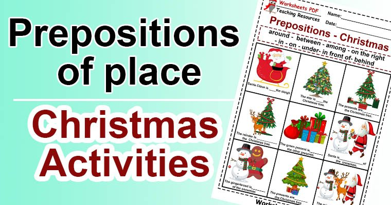 Prepositions of place christmas