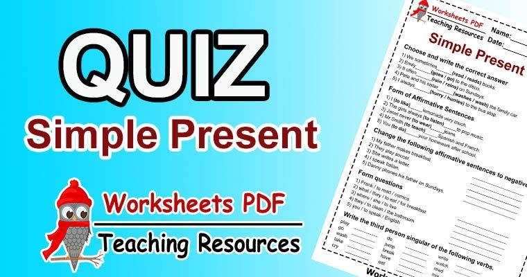 simple present quiz