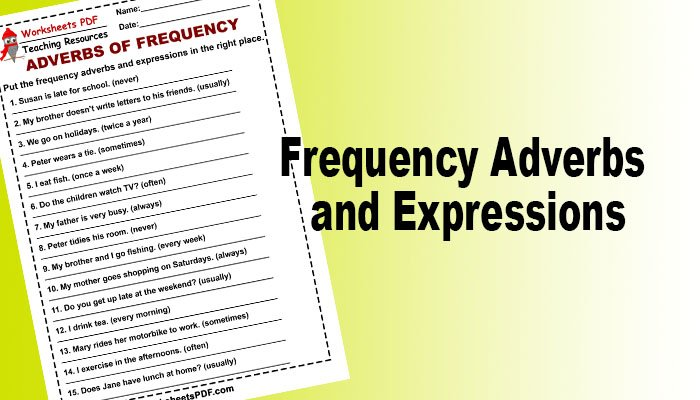 Frequency Adverbs and