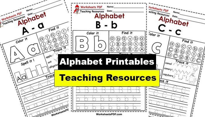 Free Alphabet Worksheets – Printables PDF
