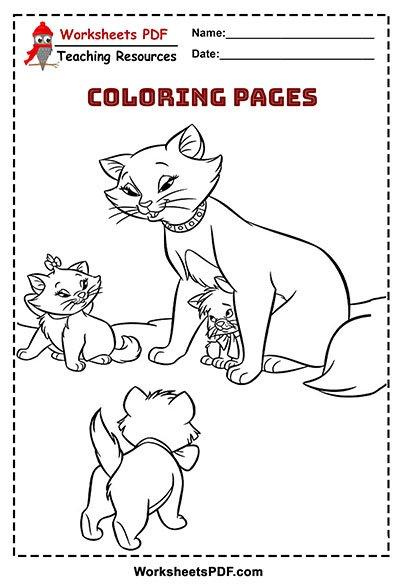 Cat Coloring Book Free Printable Worksheets Pdf