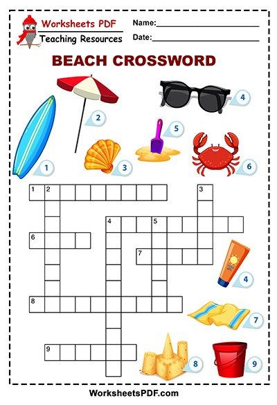 beach crossword 1