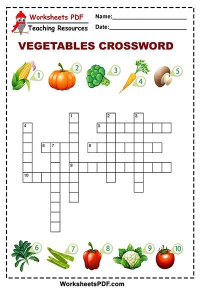 vegetables crossword 1