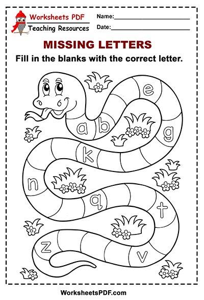 Free Printable Snake Alphabet lower case