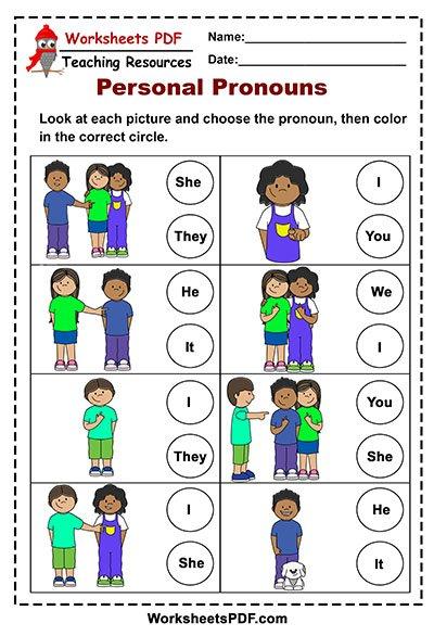 personal pronouns circle
