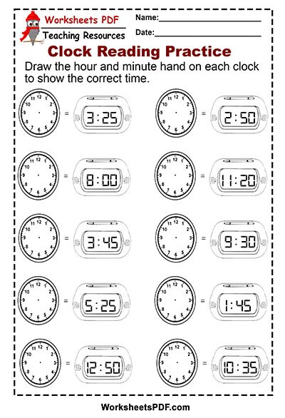 Clock Reading Practice