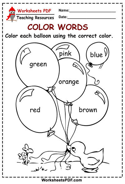 Color Each Balloon