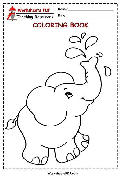 Free Cartoon Elephant coloring page