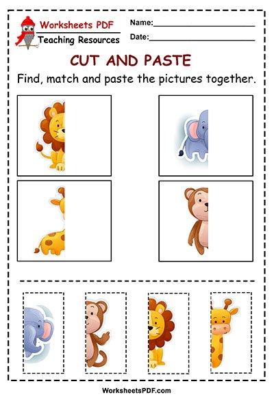 Cut And Paste Worksheets For Kindergarten Pdf