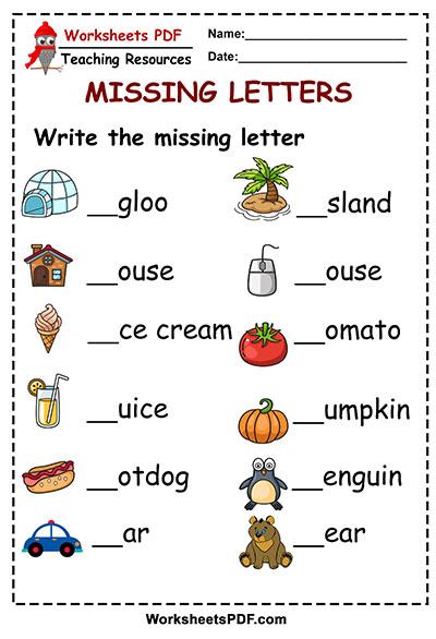 missing letter write