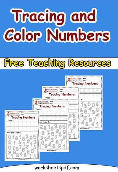 WORKSHEETS PDF TRACING NUMBERS
