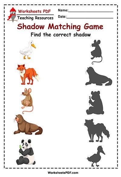 animal shadow maching game