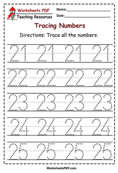 tracing 21 25