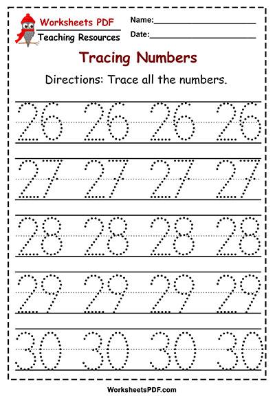 tracing 26 30