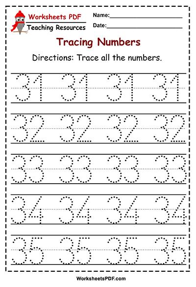 tracing 31 35