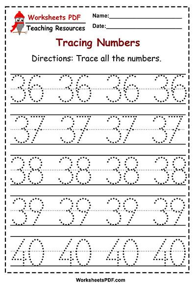 tracing 36 40