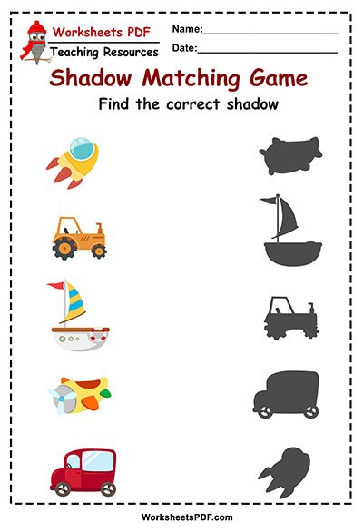 transportation shadow maching game