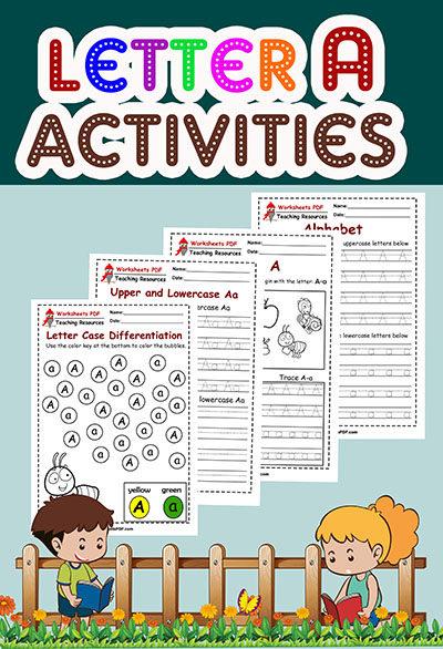 worksheets letter a