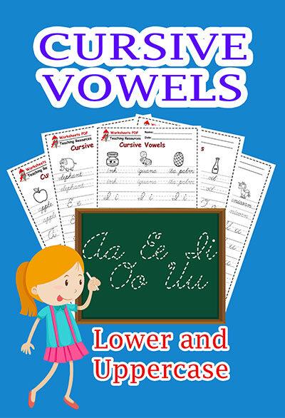 cursive vowels