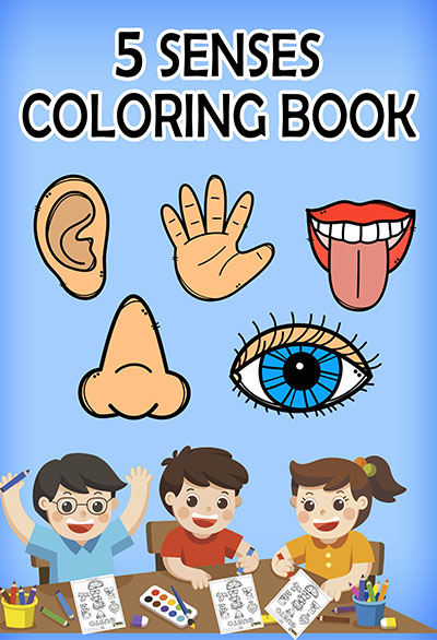 Five Senses Coloring Books