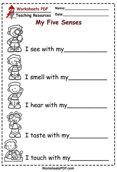 senses activities worksheets