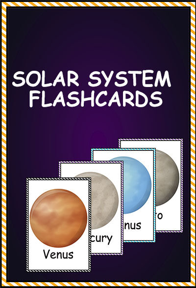 SOLAR SYTEM planet FLASHCARDS