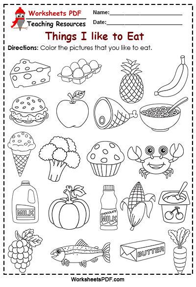 All About Me Preschool - Worksheets PDF