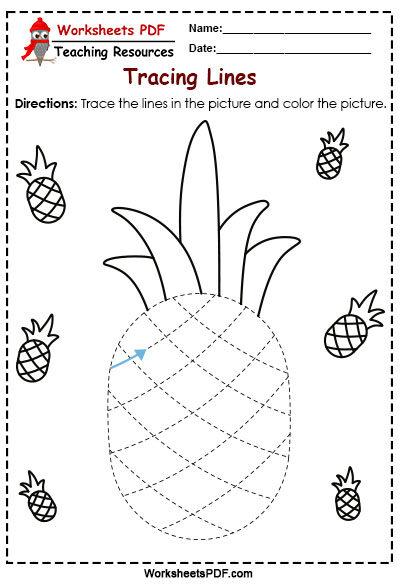 pineapple tracing
