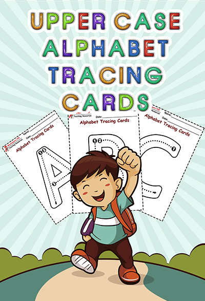 Alphabet Tracing Cards Upper Case