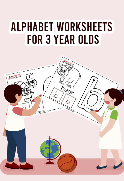 alphaber worksheets for 3 years old