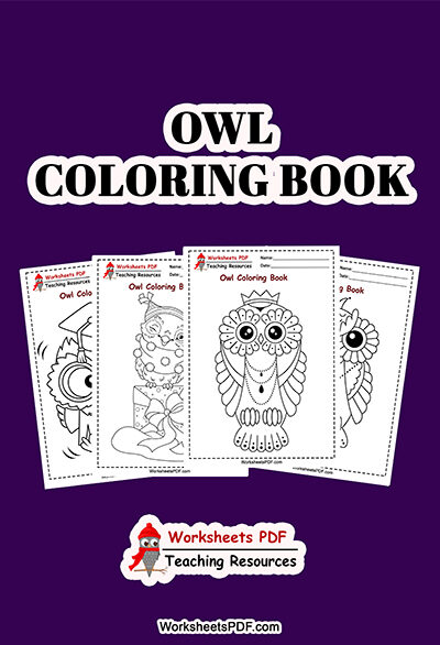 owl pages coloring 0000 Portada